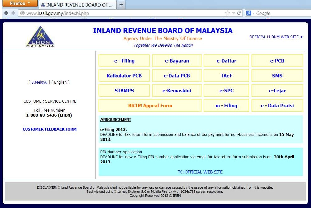 Due Day Extended For Personal Tax Submission 15 May 2013 E Filing