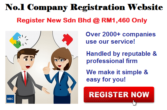 No.1 Company Registration in Malaysia @ RM1,460 only