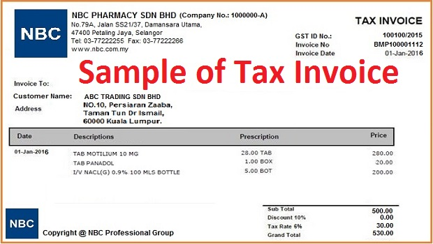 example of tax invoice – residers, Invoice examples